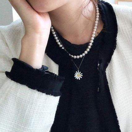 VINTAGE HOLLYWOOD ネックレス・ペンダント 人気☆Classic Pearl Necklace + Vintage Daisy Necklace_2Color(11)