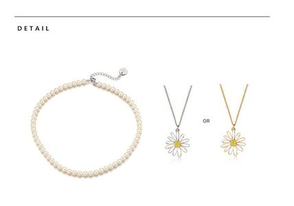 VINTAGE HOLLYWOOD ネックレス・ペンダント 人気☆Classic Pearl Necklace + Vintage Daisy Necklace_2Color(13)