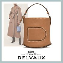 【DELVAUX】'PIN MINI' LEATHER BUCKET BAG バケット