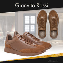 【20SS NEW】Gianvito Rossi_men /GRAND PRIX ロースニーカー/茶