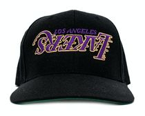 BLACK【在庫あり】UNIFORM STUDIOS 6 PANEL LA LAKERS HAT
