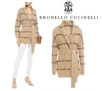 BRUNELLO CUCINELLI☆Belted sequin-embellished 綿 cardigan