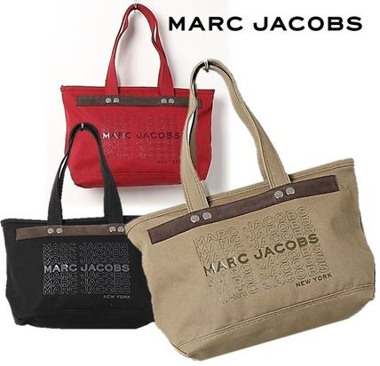 MARC JACOBS(マークジェイコブス) トートバッグ SALE! MARC JACOBS ロゴ キャンバス トートバッグ A4対応♪