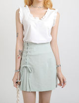 [our_uniform] Sharon Frill Sleeveless (2color)