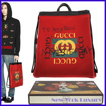 GUCCI★素敵!RED LEATHER COCO CAPITAN LOGO BACKPACK