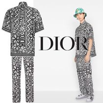 【DIOR】新作* DIOR AND SHAWN コラボ シルク 総柄 セットアップ