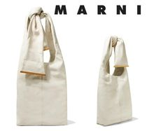 MARNI☆Tangle knotted pebbled-leather shoulder bag