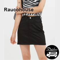Raucohouse HIGH-WAIST SPAN MINI SKIRT YJ66 追跡付