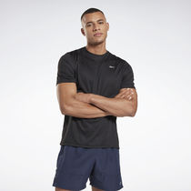 [ Reebok ]Running Essentials Half Sleeve RE SS T-Shirt Black