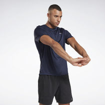 [ Reebok ] Running Essentials Half Sleeve RE SS T-Shirt Navy