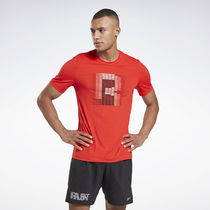 [Reebok]OSR SS Activechill Graphic Half Sleeve T-Shirt (Red)