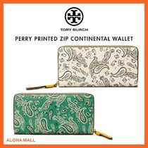 【Tory Burch】PERRY PRINTED ZIP CONTINENTAL WALLETペイズリー