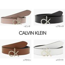 【Calvin Klein】LOW FIXED ロゴ ベルト 4カラー
