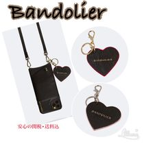 【 Bandolier】Pebble Leather Heart Key ハート キーチェーン