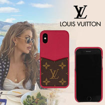 【LOUIS VUITTON】IPHONE X XS ケース  スマホ  レザー