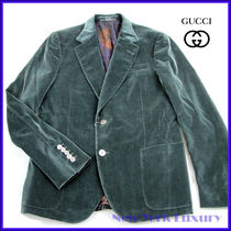 Gucci★素敵!Mens Green Velvet Jacket Blazer