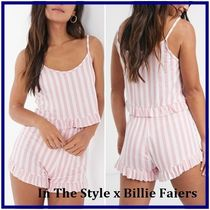 ☆In The Style☆Billie Faiers フリルストライプパジャマ
