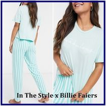 ☆In The Style☆Billie Faiers ストライプパジャマセット Green