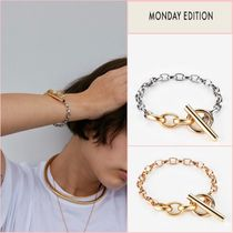 日本未入荷☆MONDAY EDITION☆Simple Chain T Bracelet【全2色】