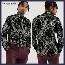 ◆ASOS/Twisted Tailor◆メタリックフロッキング テイラーシャツ