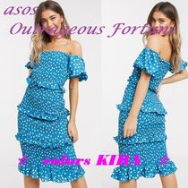 ASOS★Outrageous Fortune★フリルシャーリングペンシルドレス♪