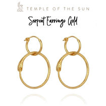 【TEMPLE OF THE SUN】Serpent Earrings Gold ゴールド ピアス