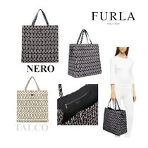 【FURLA】DIGIT*チェーンプリント柄  ナイロン製☆ トートバッグ
