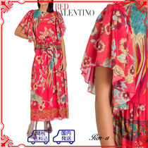 RED VALENTINO★BIRD OF PARADISE IN THE FOREST ロングドレス