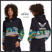 adidas Originals*Cropped フーディー*Black/Multi*送料込