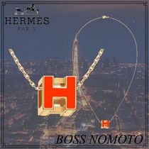 【Hermes】Pendentif Cage d'H★ペンダント H CUBE ★ギフトに★