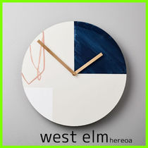 送料込!west elm Moglea Scribble Wall Clock 壁掛け時計