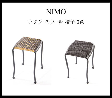 Furni in us 椅子・チェア Furni in us_NIMO★ラタン★スツール★椅子★2色