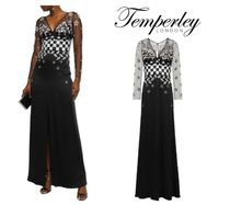 TEMPERLEY LONDON☆Embellished tulle and satin-crepe gown
