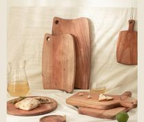 【DECO VIEW】Mahogany wood handle cutting board  square - S
