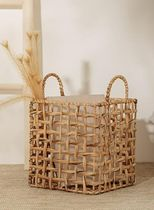 【DECO VIEW】Natural waterweed square basket - M