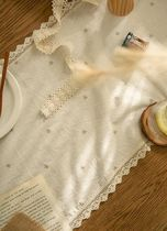 【DECO VIEW】Natural Daisy Embroidery Lace Table Runner
