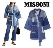 [関税・送料込] MISSONI☆Frayed patchwork denim jacket