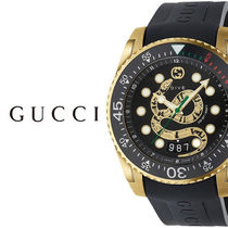 破格値 GUCCI(グッチ) Dive Gold Tone Black Dial Men's Watch