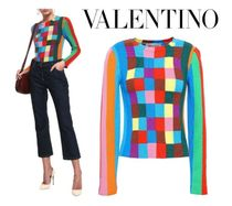 [関税・送料込] VALENTINO☆Color-block cashmere sweater