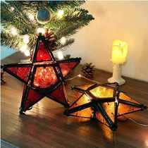 【YOTIMING】Star color glass candle holder camping moodlight