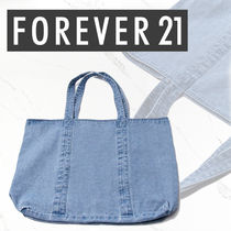 Forever21(フォーエバー21) トートバッグ 国内発送【Forever21】デニムエコトートバッグ 関税込