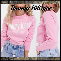 【Tommy Hilfiger】Tommy Jeans*ビッグフロントロゴトレーナー桃