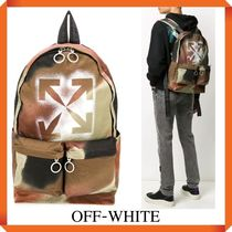 OFF WHITE STENCIL CAMO BACKPACK
