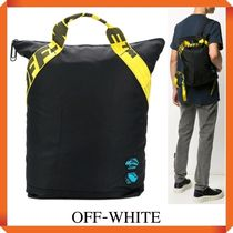 OFF WHITE NYLON HANDLE BACKPACK