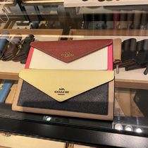 COACH soft wallet カラーブロック 12122