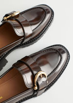 ☆& Other Stories☆Buckled Leather Heeled Loafers