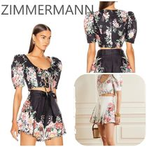 ZIMMERMANN  BELLITUDE LACED CROP TOP