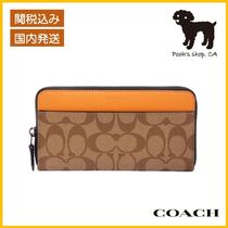 【COACH】Accordion Wallet Colorblock Signature◆国内発送◆