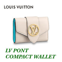 Louis Vuitton◇ポルトフォイユ ポンヌフ コンパクト/白/追跡込