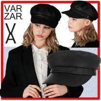 ☆人気☆VARZAR☆Black stud leather matroos cap☆